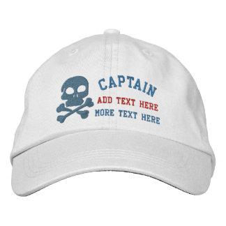 Capitán With Skull y huesos de la cruz adaptables Gorra De Beisbol