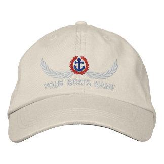Capitanes conocidos personalizados de la gorra de beisbol bordada