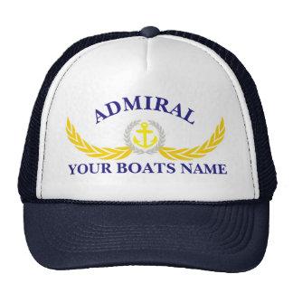 Capitanes personalizados del adorno del ancla del gorro de camionero