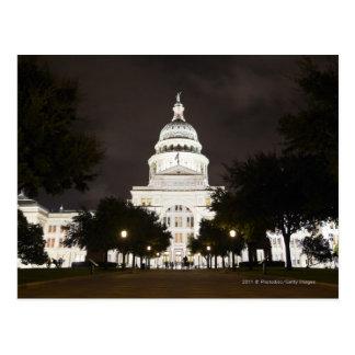 Capitolio de Austin, Tejas del estado en la noche Postal
