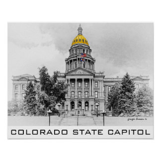 Capitolio del estado de Colorado, bóveda del oro, Póster