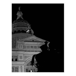 Capitolio del estado de Tejas en la postal de la