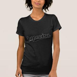 Capoeira en la suposición negra camiseta