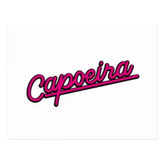 Capoeira en magenta postal