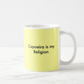 Capoeira es mi religión taza de café