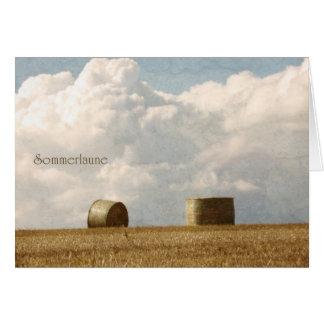 Capricho de verano tarjeta de felicitación