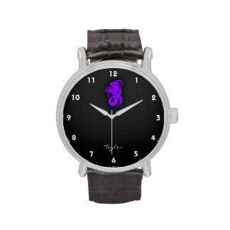 Capricornio púrpura violeta relojes