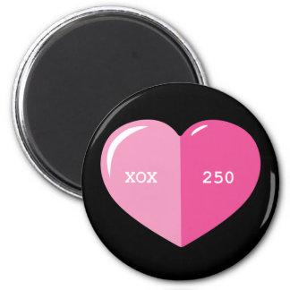 Cápsula rosada de la píldora del corazón imán redondo 5 cm