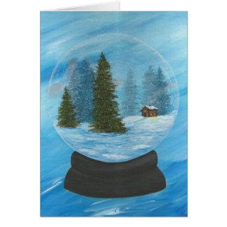 Captura de invierno tarjeta