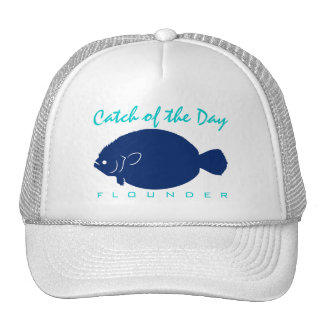 Captura del día - gorra de la pesca de la platija
