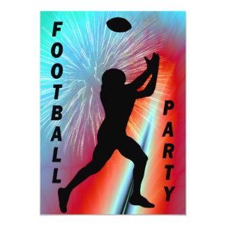 Captura del fútbol en el fiesta rojo del invitación 12,7 x 17,8 cm