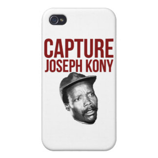 Captura Kony - camisetas, casos, gorras y botones iPhone 4/4S Carcasas