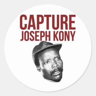 Captura Kony - camisetas, casos, gorras y botones Pegatina Redonda
