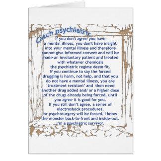Captura psiquiátrica tarjeta de felicitación