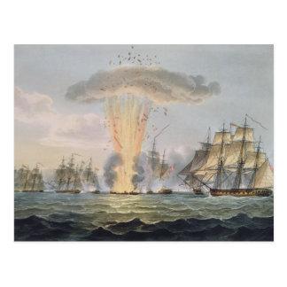 Captura y destrucción de cuatro fragatas postal