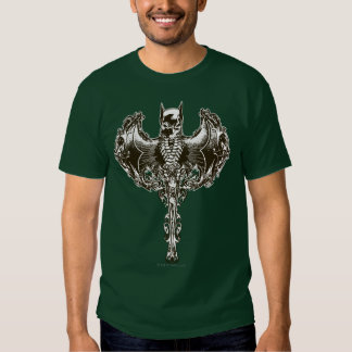 Capucha de Batman y escudo del cráneo Camisetas