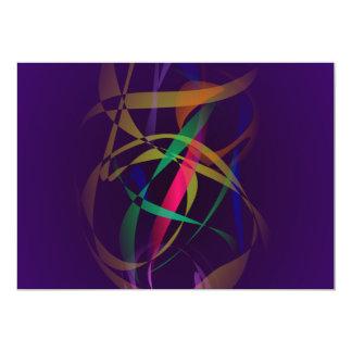 Capullo colorido en un espacio púrpura oscuro invitación 12,7 x 17,8 cm