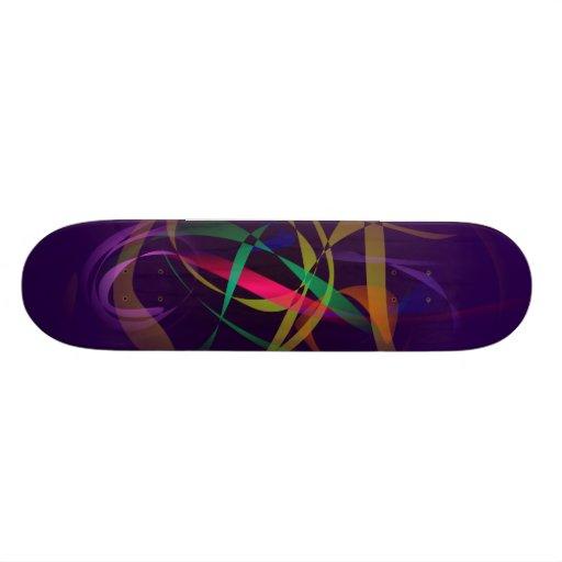 Capullo colorido en un espacio púrpura oscuro monopatines personalizados