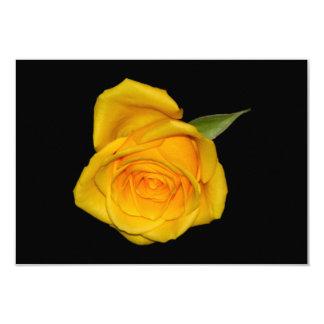Capullo de rosa amarillo invitación personalizada