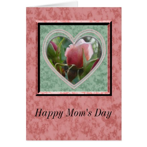 Capullo de rosa del día de la mamá feliz felicitaciones