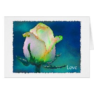 Capullo de rosa del mosaico tarjeta de felicitación