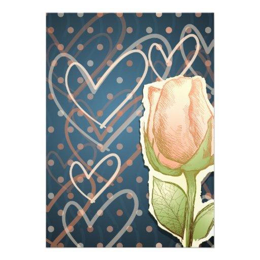Capullo de rosa del vintage, invitación