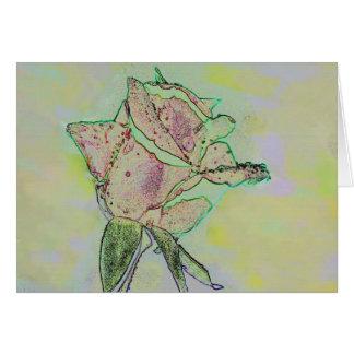 Capullo de rosa dulce tarjetón