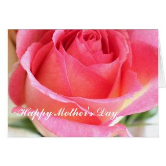 Capullo de rosa rosado 2 - el día de madre tarjeta