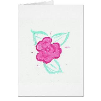Capullo de rosa felicitación