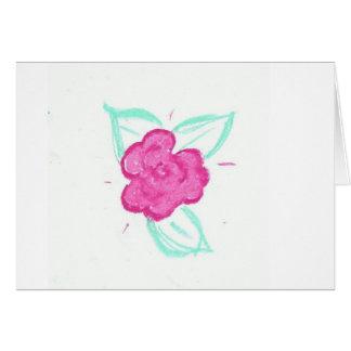 Capullo de rosa tarjeta de felicitación