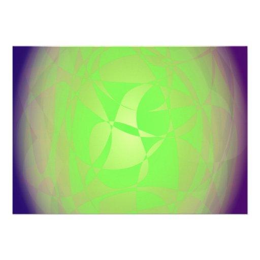Capullo verde comunicado personalizado