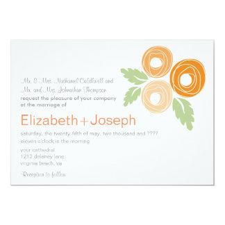 Capullos de rosa anaranjados que casan la comunicado personalizado