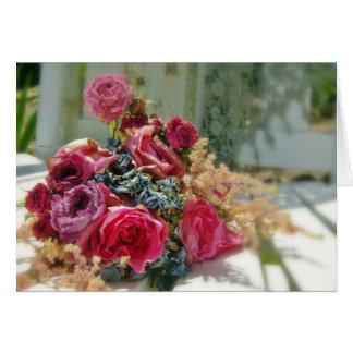 Capullos de rosa de YE del frunce Tarjeta De Felicitación