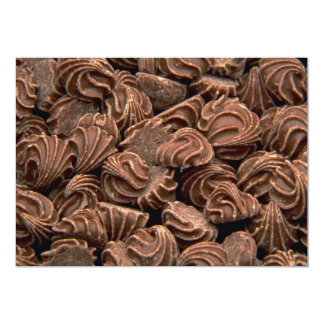 Capullos de rosa deliciosos del chocolate invitación 12,7 x 17,8 cm