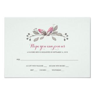 Capullos de rosa en la floración RSVP Invitación 8,9 X 12,7 Cm