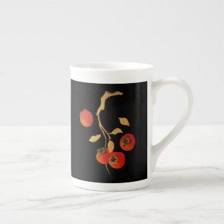 Caqui con la rama del oro taza de té