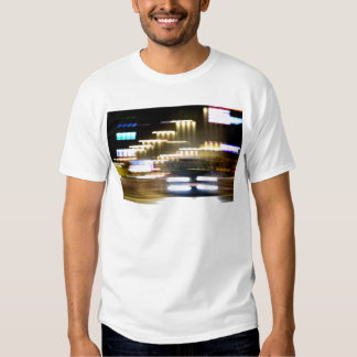 Car in street in urban city lights with distortion camisetas