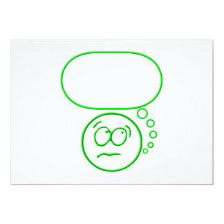 Cara #2 (con la burbuja del discurso) invitación personalizada