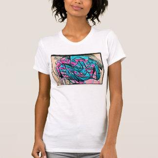 cara abstracta de la aguamarina camisetas
