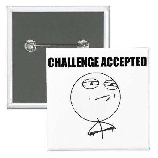 Cara aceptada desafío Meme cómico de la rabia Pins