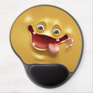Cara amarilla divertida alfombrilla con gel
