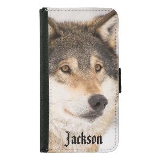 Cara amistosa personalizada del lobo