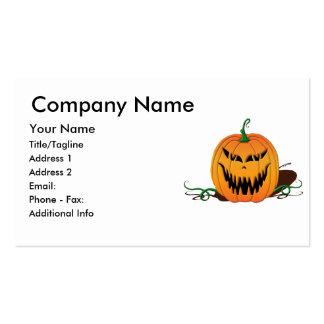 Cara asustadiza de la calabaza de Halloween Plantillas De Tarjetas Personales