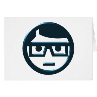 Cara Brillenträger gafa face eyeglasses Tarjetón