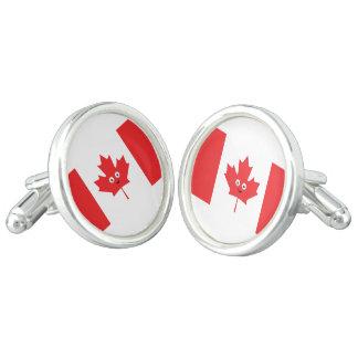 Cara canadiense de la hoja de arce gemelos