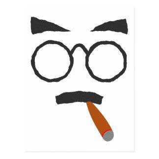 Cara cigarro face cigar postal