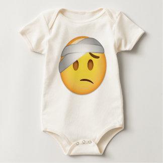 Cara con el Cabeza-Vendaje Emoji Body Para Bebé