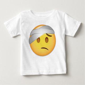 Cara con el Cabeza-Vendaje Emoji Camiseta De Bebé