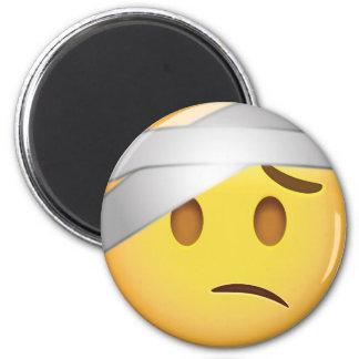 Cara con el Cabeza-Vendaje Emoji Imán
