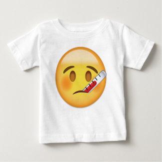 Cara con el termómetro Emoji Camiseta De Bebé